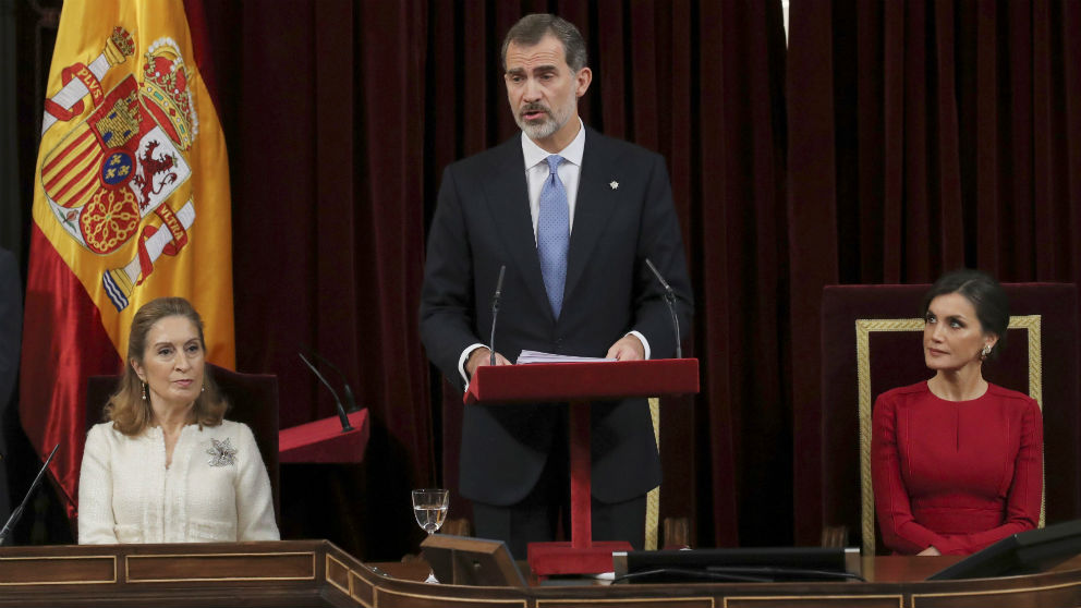 Felipe VI se dirige a las Cortes en el 40 aniversario de la Constitución