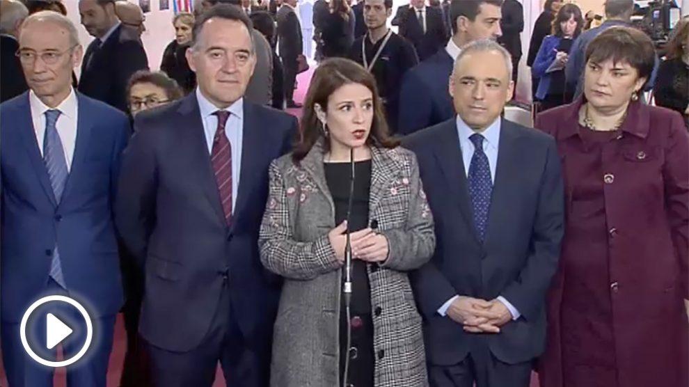 La portavoz del PSOE, Adriana Lastra.