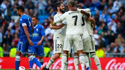 El Real Madrid se dio un festín ante el Melilla. (Getty)