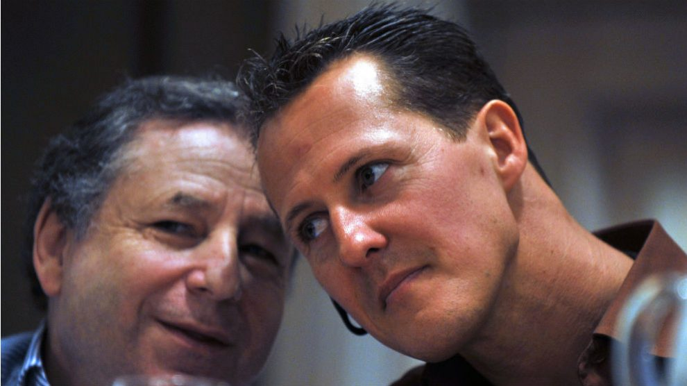 Jean Todt y Schumacher. (AFP)