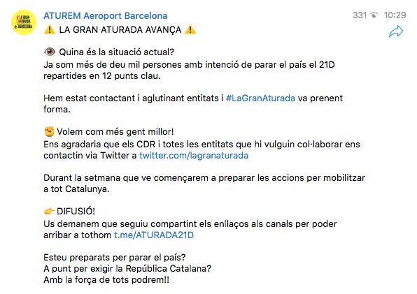 Torra envalentona a los CDR con la purga de los Mossos y ya preparan el colapso de Cataluña el 21-D