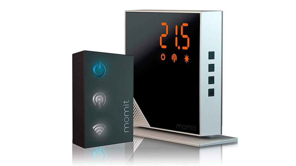 Termostato inteligente desarrollado por Momit para encender la calefacción desde el móvil.