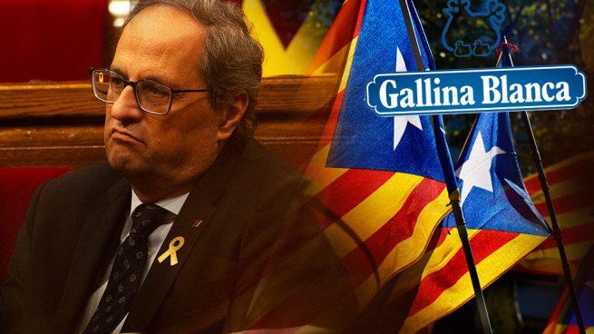 Golpe a Torra de la independentista Gallina Blanca: dejan Cataluña porque 'la pela es la pela'