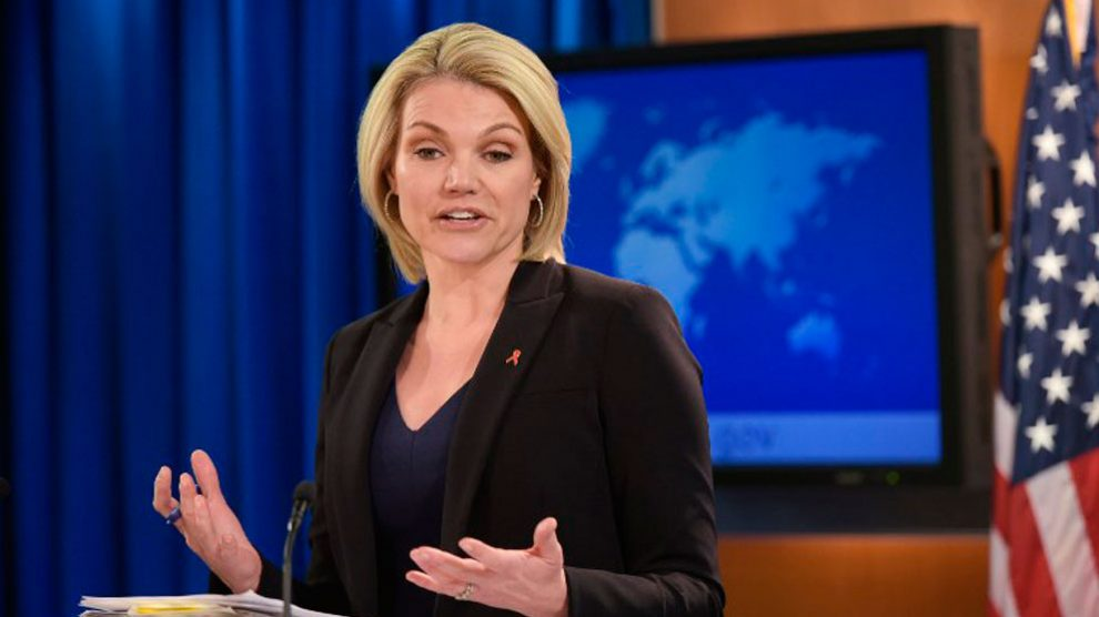Heather Nauert, ex periodista de Fox News, elegida por Donald Trump como sucesora de Nikki Haley. Foto: AFP