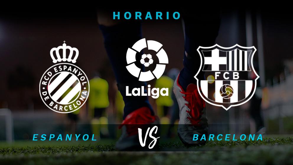 Liga Santander 2018-2019: Espanyol-Barcelona | Horario del partido de fútbol de Liga Santander.
