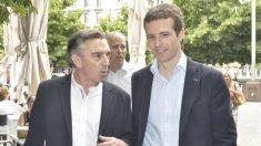 Pablo Casado y Luis María Beamonte. Foto: Europa Press.