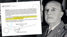 Patrimonio Nacional cambia de versión sobre la fecha de nombramiento del alto cargo que firmó la exhumación de Franco