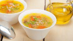 Receta de sopa de cebada