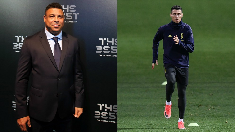 Ronaldo Nazario y Cristiano Ronaldo.
