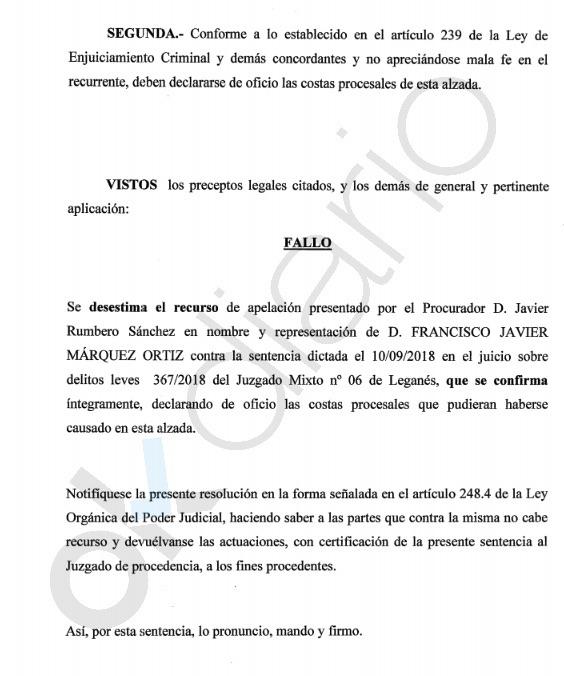 La Audiencia Provincial confirma que el alcalde socialista de Leganés se inventó una agresión del líder de la oposición