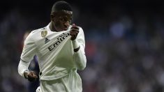 Vinicius celebra un gol. (AFP)