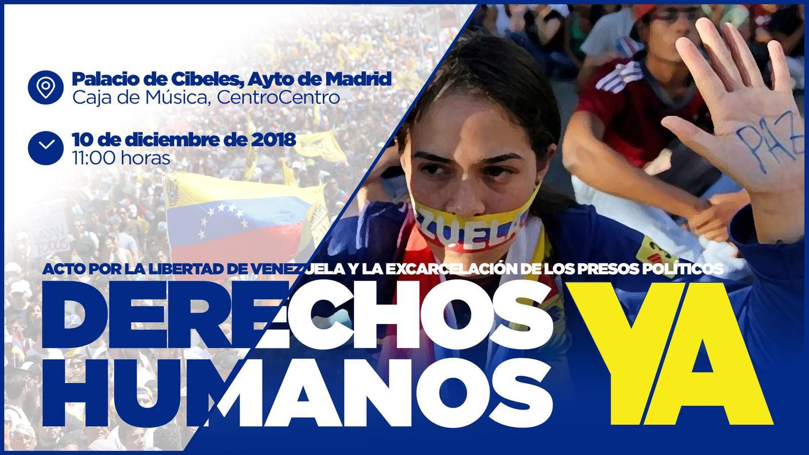 Carmena incumple su promesa y no irá al acto de apoyo a los presos políticos de Venezuela