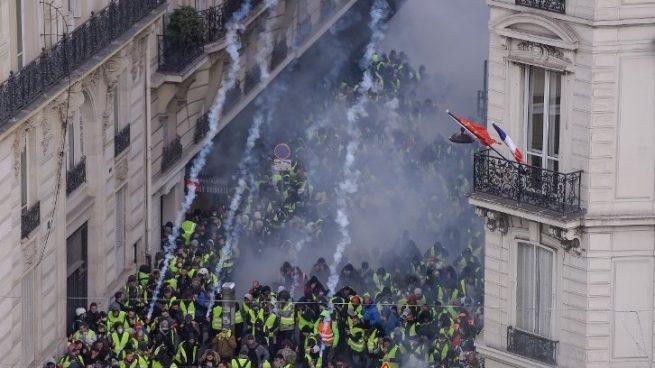 Incidentes con la policía en la marcha de los chalecos amarillos