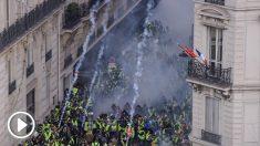 Imagen de las protestas de los 'chalecos amarillos' en París. AFP