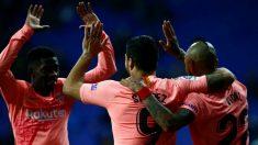 Dembélé, Suárez y Vidal, jugadores del Barcelona
