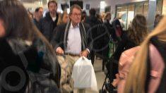 El ex presidente Artur Mas el pasado viernes en el aeropuerto de Ginebra (Suiza).