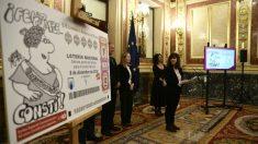 Décimo de lotería nacional homenaje a los 40 años de la Constitución española. Foto: Europa Press