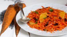 Receta de ensalada de zanahoria y naranja
