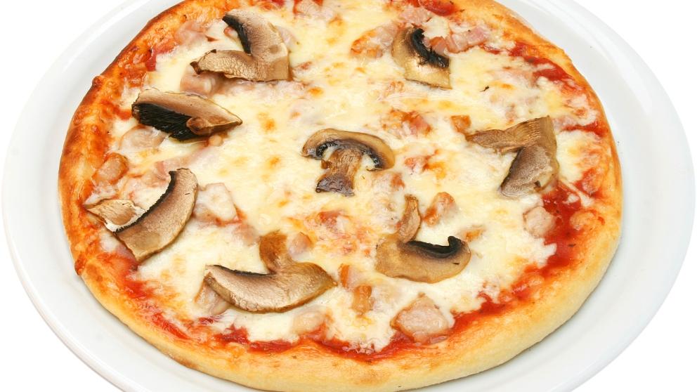 Receta de pizza de setas y queso de cabra