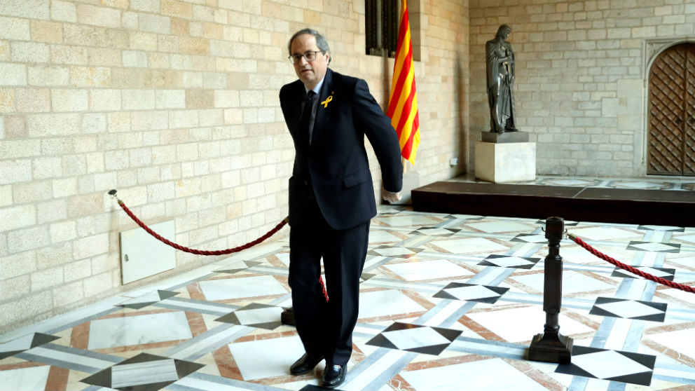 El presidente Quim Torra, en el Palau de la Generalitat.