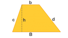 El área de un trapecio se puede calcular fácilmente