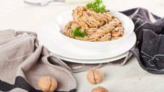 Receta de Espaguetis con salsa de nueces