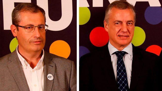 Markel Olano, diputado de la Diputación Foral de Guipúzcoa, y Iñigo Urkullu, lehendakari del Gobierno Vasco.