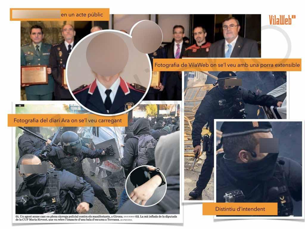 Los golpistas 'marcan' a los mossos legales para anularles en los ataques del 21 de diciembre