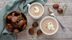 Receta de sopa dulce de castañas