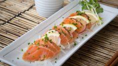 Receta de tataki de salmón y nueces
