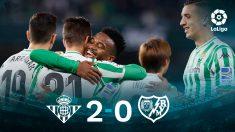 El Betis venció al Rayo (2-0) y se acerca a Europa.