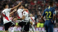 Los jugadores de River celebran el gol de Pratto. (EFE)