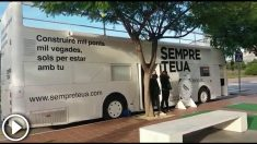 El 'Bus de la Llengua' de la Generalitat Valenciana.