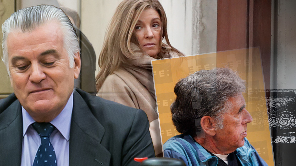 El ex tesorero del PP Luis Bárcenas, su esposa Rosalía Iglesias y el secuestrador contratado por el Ministerio de Interior, Enrique Olivares.