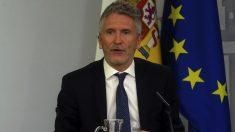 El ministro del Interior en funciones, Fernando Grande-Marlaska. (Foto. Moncloa)