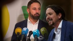 Santiago Abascal (VOX) y Pablo Iglesias (Podemos)