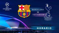 El Barcelona-Tottenham cierra la primera fase de la Champions.