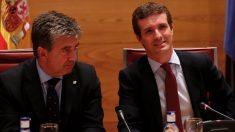 Ignacio Cosidó y Pablo Casado. (Foto: PP)