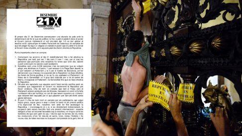 Los CDR pretenden asaltar el Parlament el 21-D