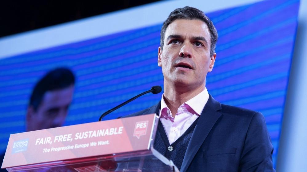 Pedro Sánchez, en un viaje internacional. (Foto. PSOE)