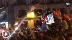 Los aficionados de River Plate tomaron la Puerta del Sol.