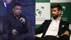 Ronaldo Nazario y Gerard Piqué.