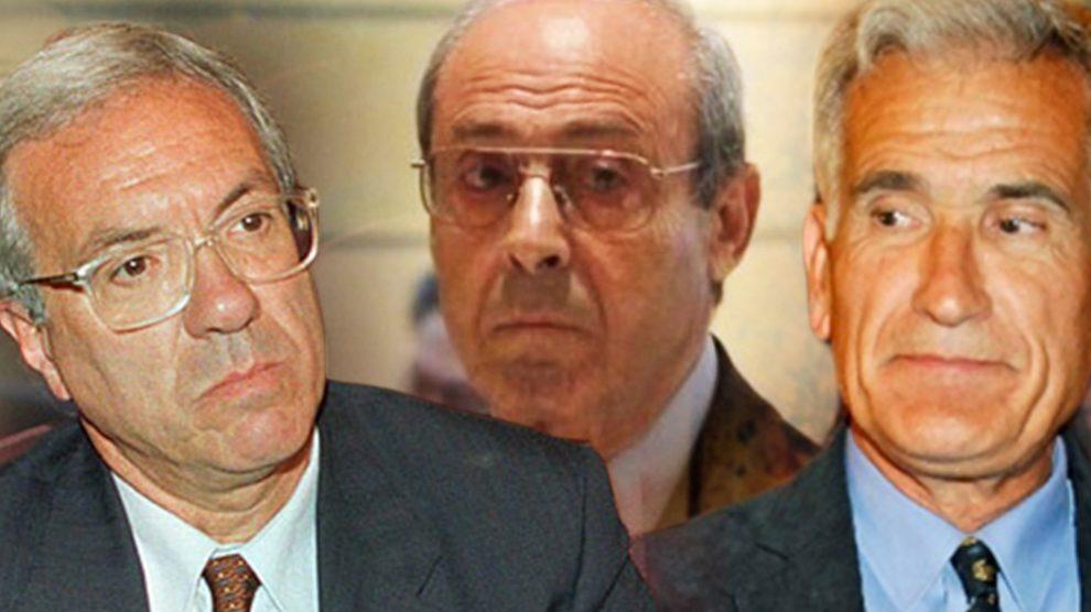 El ex ministro José Barrionuevo, Segundo Marey y el ex secretario de Estado Rafael Vera.