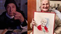 Antonia Cruells, la abuela que dió vida a la icónica abuela televisiva de los anuncios de fabada Litoral. Foto: Joan Tharrats