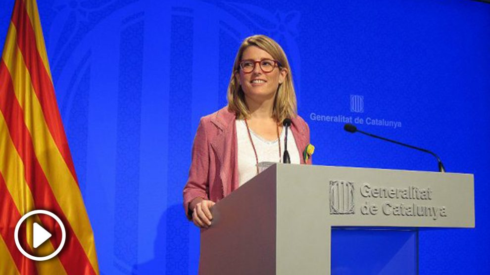 Elsa Artadi, portavoz del Govern catalán. (EP)