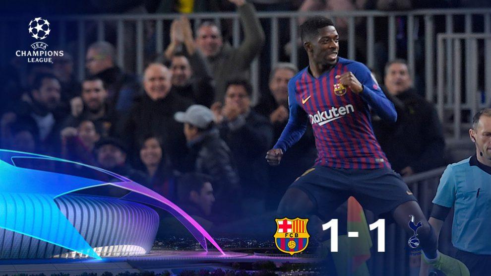 Dembélé marcó un golazo en los primeros minutos de partido. (AFP)