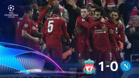 El Liverpool terminó pidiendo la hora ante el Nápoles.
