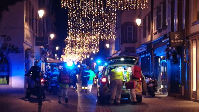Policía intercambia disparos con autor del atentado en Estrasburgo