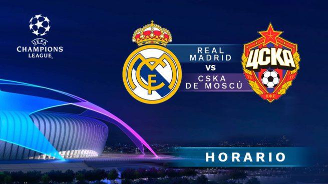 Real Madrid - CSKA Moscú: Horario y dónde ver el partido de