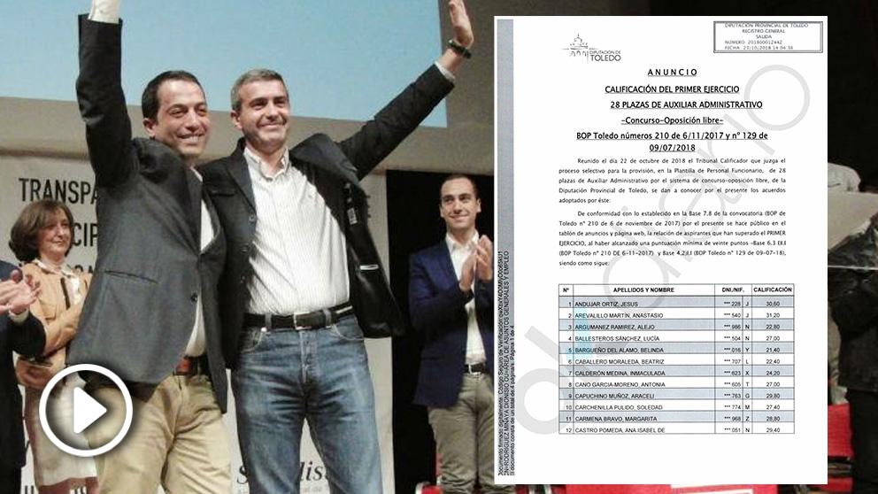 El presidente de la Diputación de Toledo, Álvaro Gutiérrez Prieto (d), y el alcalde de Torrijos, Anastasio Arevalillo.